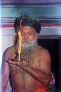 Swamiji conducting Aradhana
